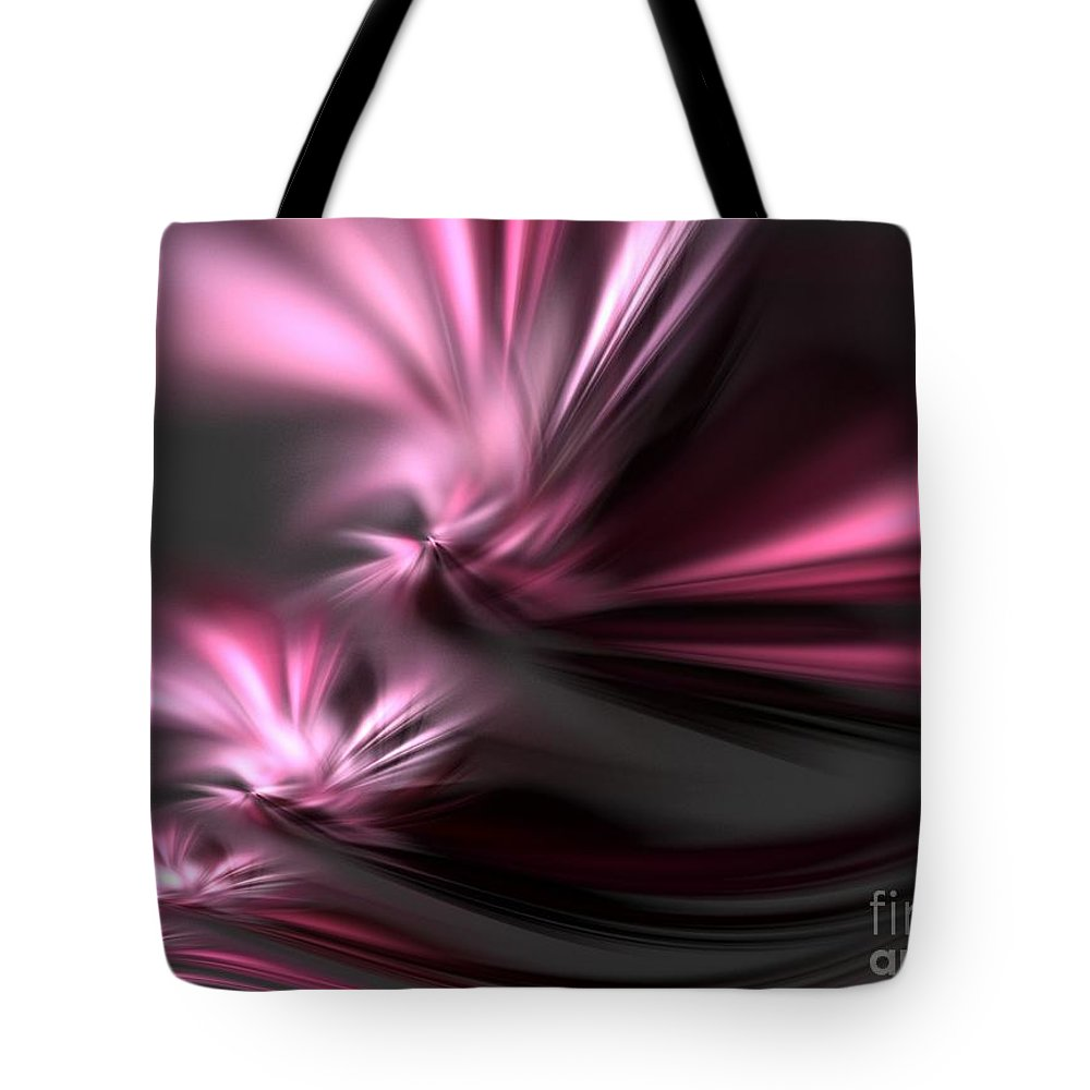 Apophysis Tote Bag featuring the digital art Velvet Angels by Kim Sy Ok