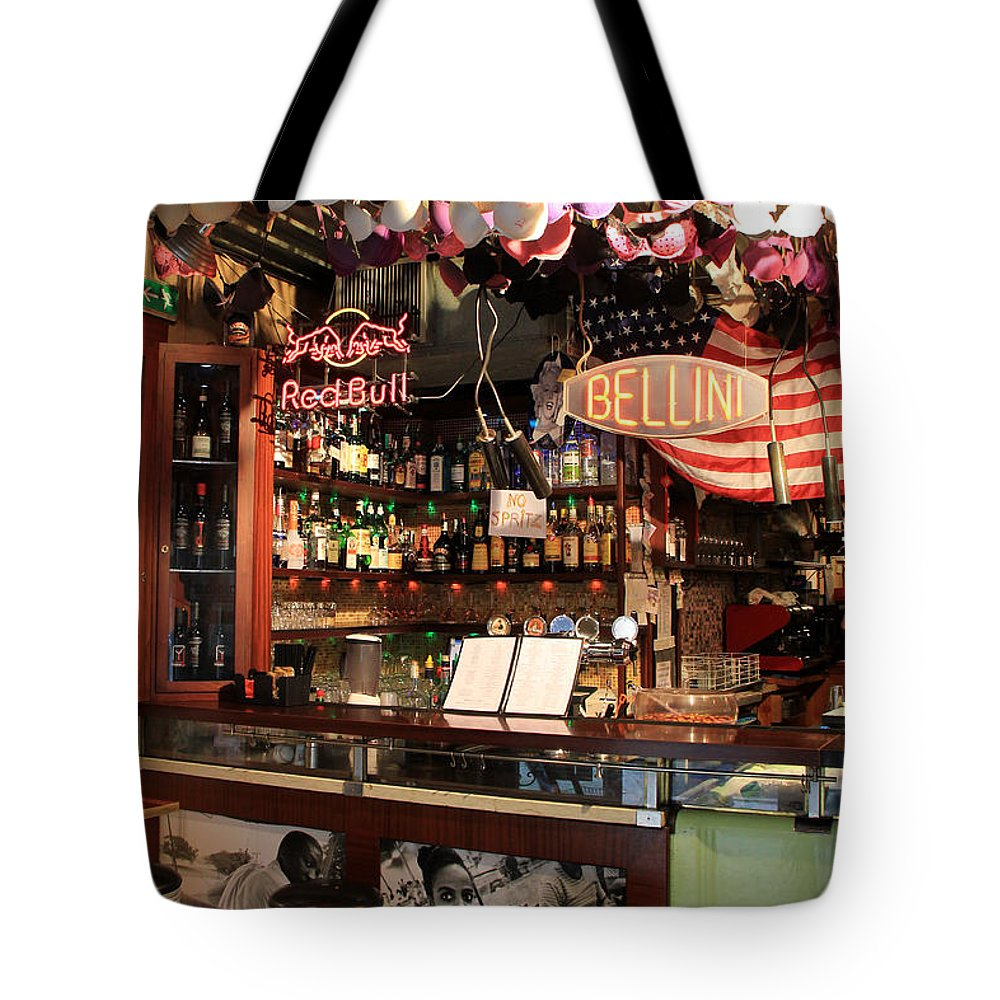 Bacaro Jazz Bar Tote Bag featuring the photograph Venice Jazz Bar by Andrew Fare