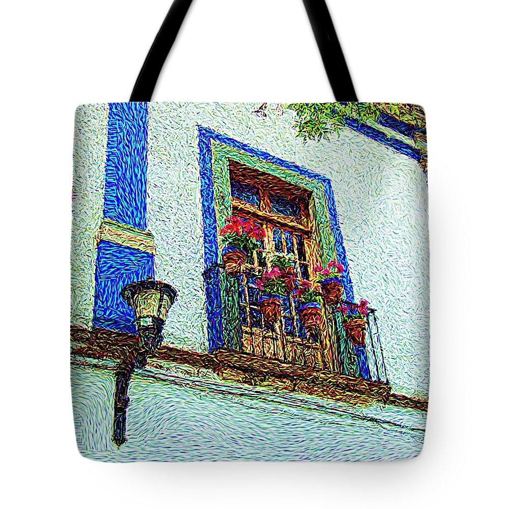 Van Gogh Tote Bag featuring the digital art Vg Guanajuato by John Kolenberg