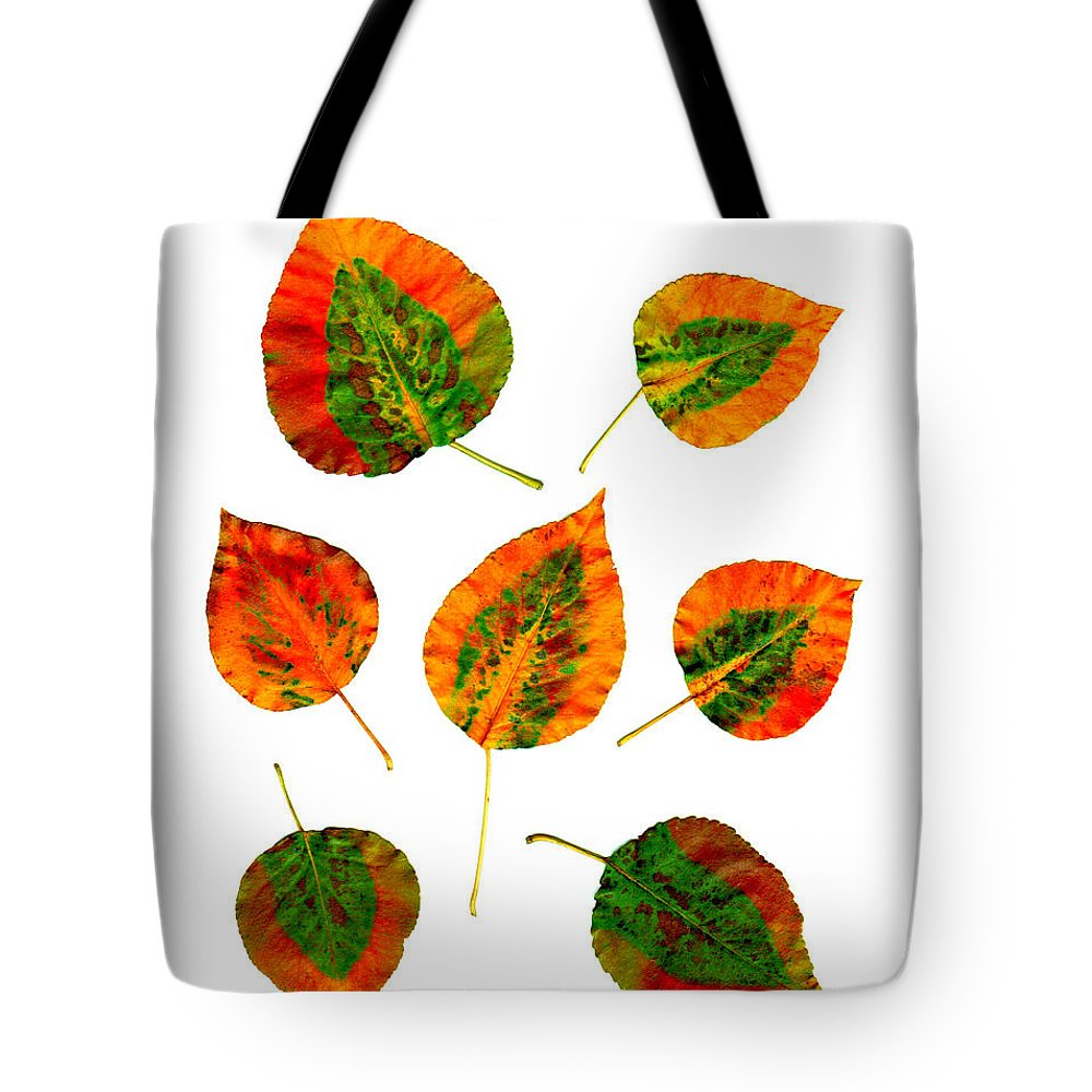 Leaf Tote Bag featuring the photograph Vibrant Autumn Leaves by Renee Trenholm