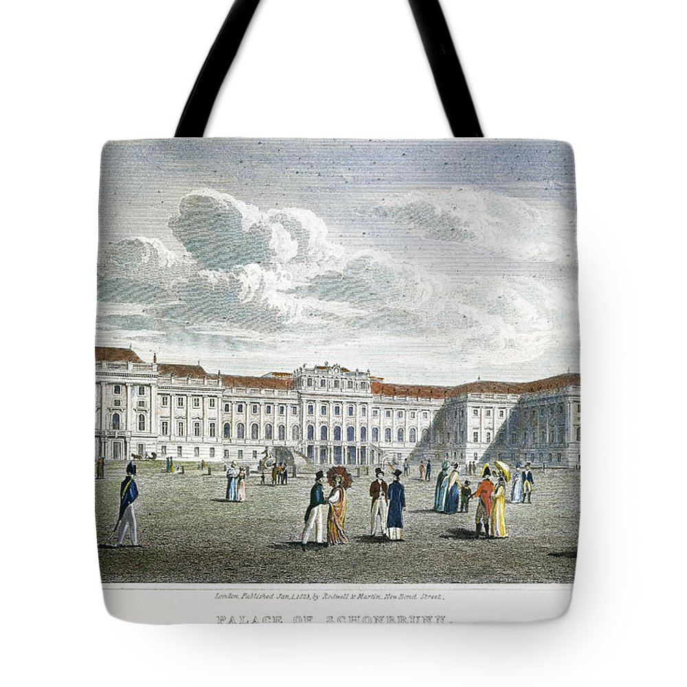 1823 Tote Bag featuring the photograph Vienna, 1823 by Granger