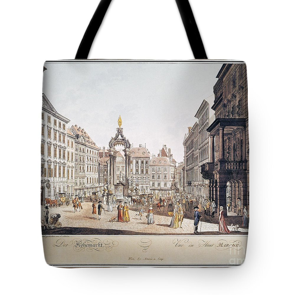 1793 Tote Bag featuring the photograph Vienna: Hohemarkt, 1793 by Granger