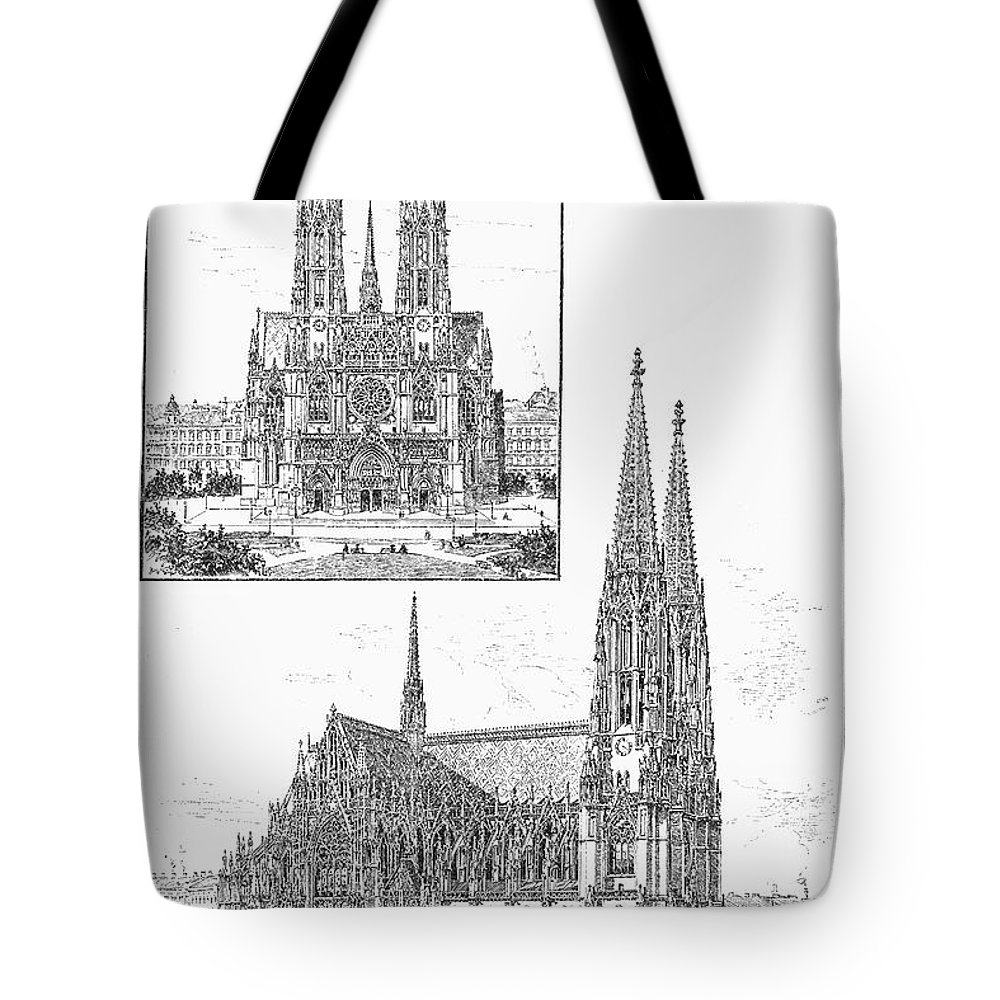 1889 Tote Bag featuring the photograph Vienna: Votive Church by Granger