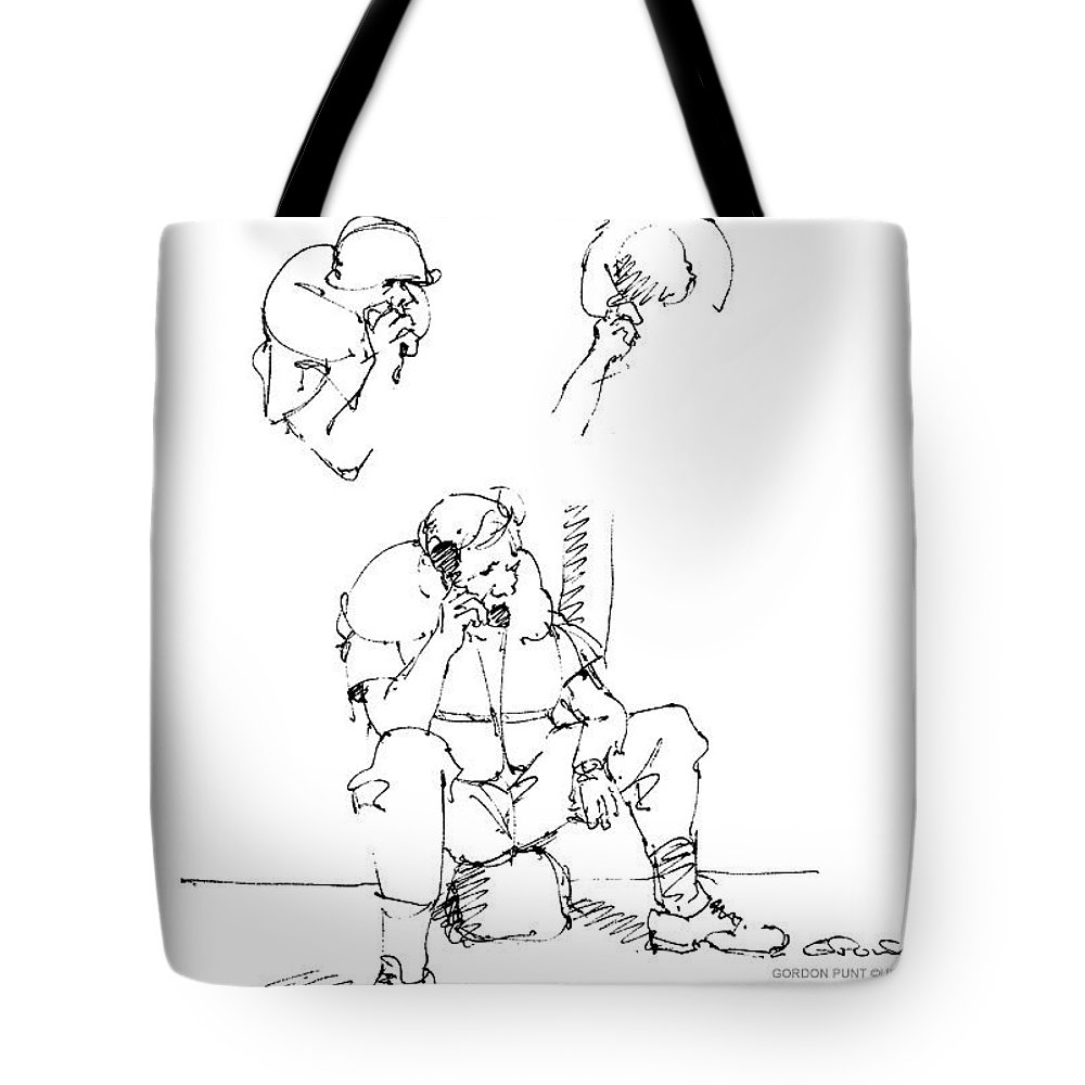 Vietnam War Art Tote Bag featuring the drawing Vietnam War Art-6 by Gordon Punt