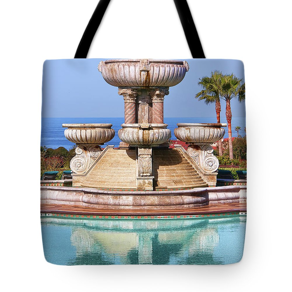 Fountain Tote Bag featuring the photograph View From Paradise by Mariola Bitner