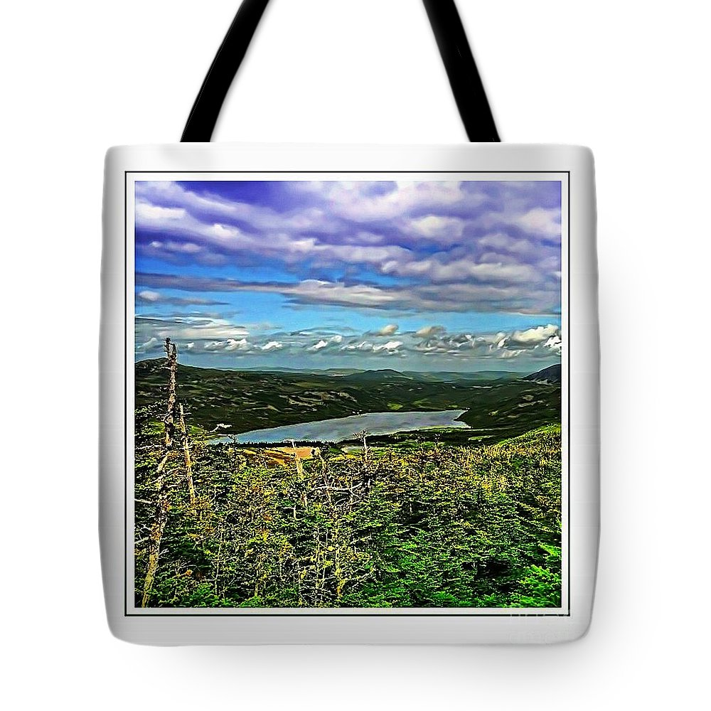 View From The Hilltop Tote Bag featuring the photograph View From The Hilltop 2 by Barbara Griffin