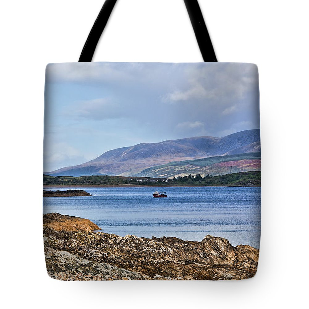 Isle Of Arran Tote Bag featuring the photograph View Of The Isle Of Arran by Chris Thaxter