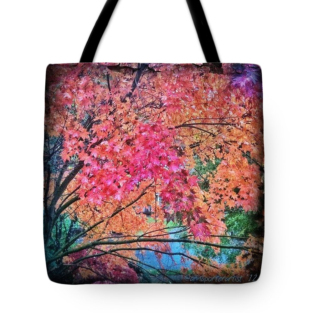 Autumn Tote Bag featuring the photograph Vine Maple - Fall Color by Anna Porter