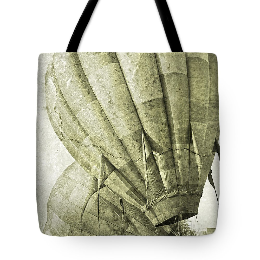 Hot Tote Bag featuring the digital art Vintage Ballooning IIi by Betsy Knapp