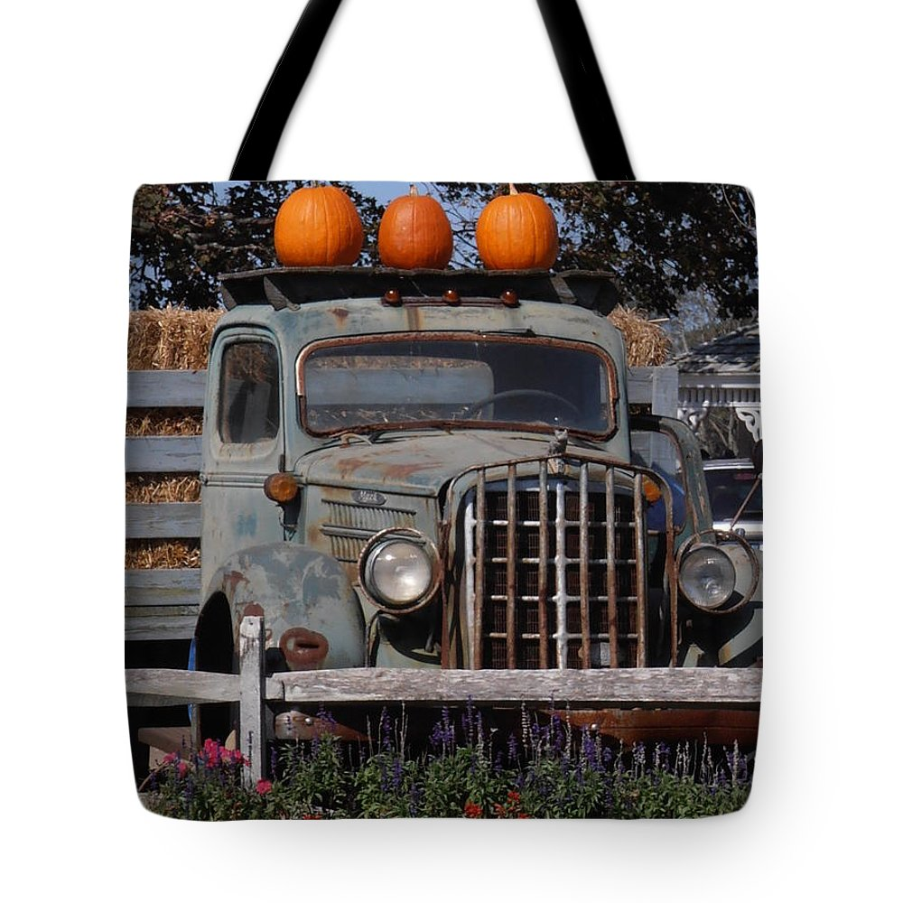 Vintage Tote Bag featuring the photograph Vintage Harvest by Kimberly Perry