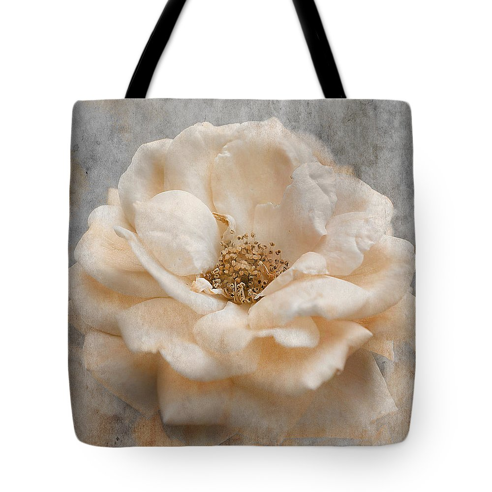 Rose Tote Bag featuring the photograph Vintage Rose I Square by Jai Johnson