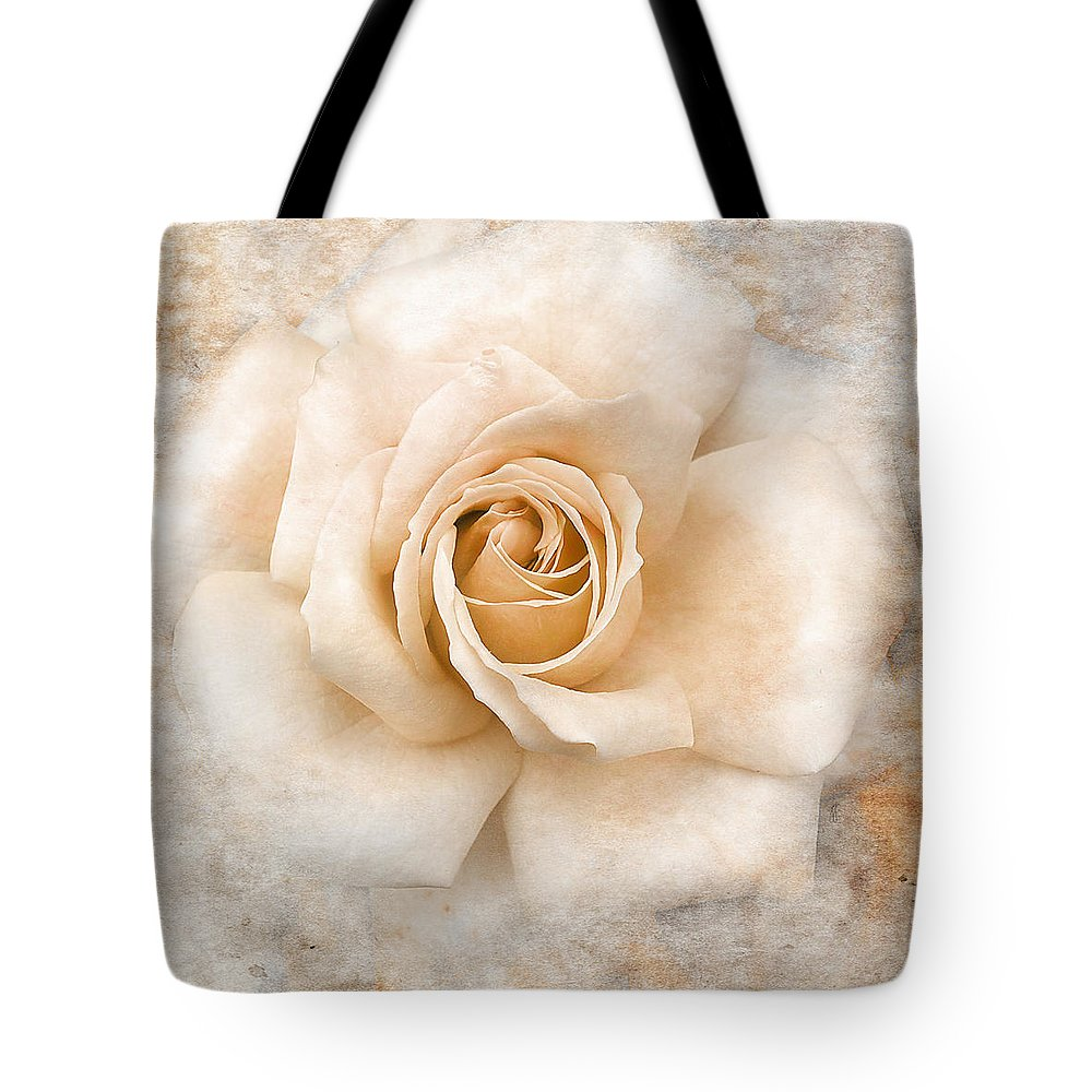 Rose Tote Bag featuring the photograph Vintage Rose V Square by Jai Johnson