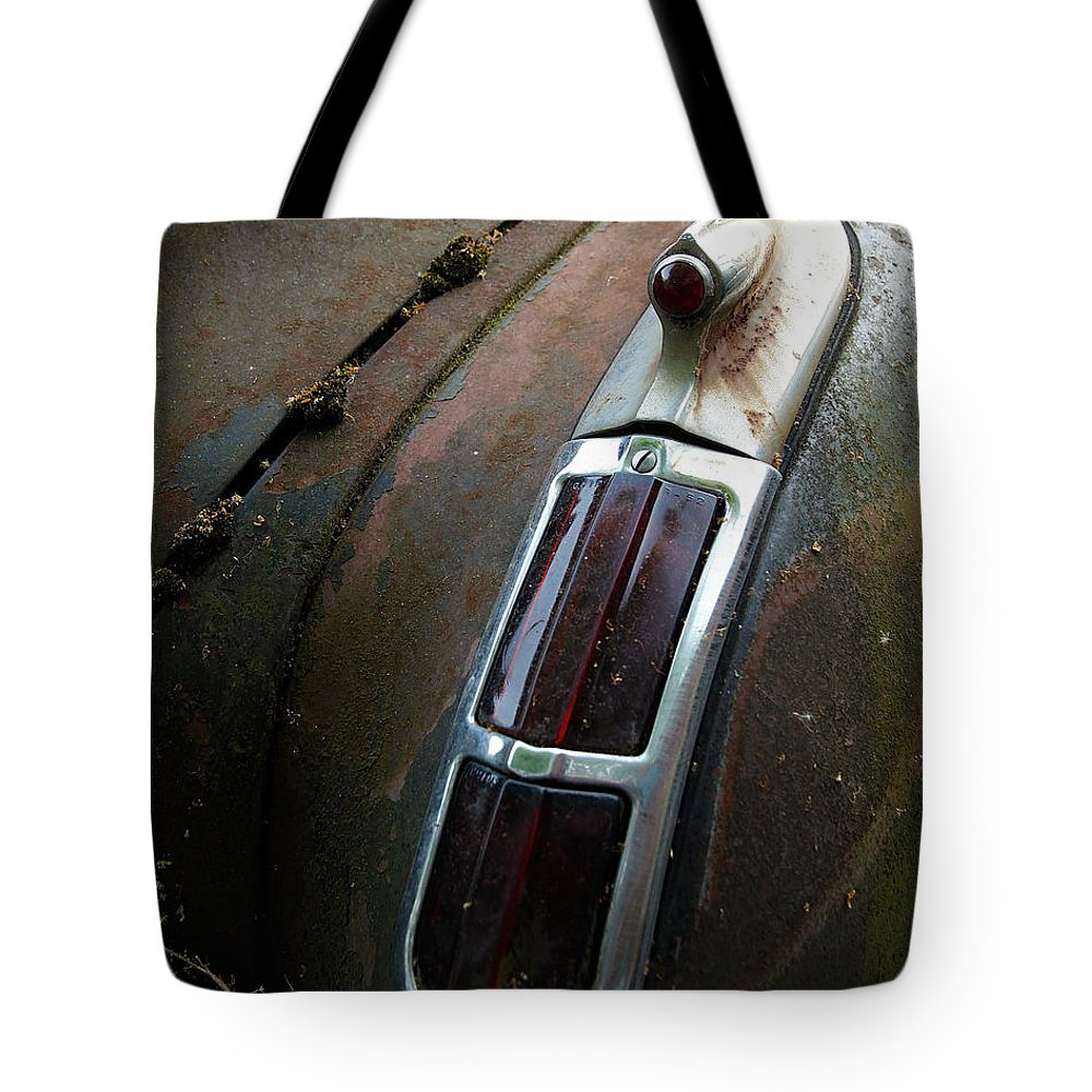 Vintage Tote Bag featuring the photograph Vintage Tail Light by Steve McKinzie