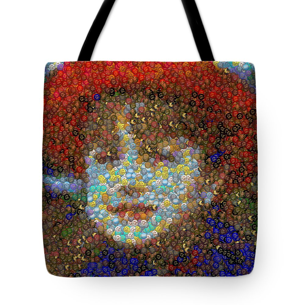 Tote Bag featuring the digital art Violet Gumballs by Paul Van Scott