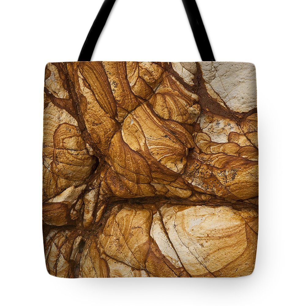Hhh Tote Bag featuring the photograph Volcanic Rock, Onawe, Banks Peninsula by Colin Monteath