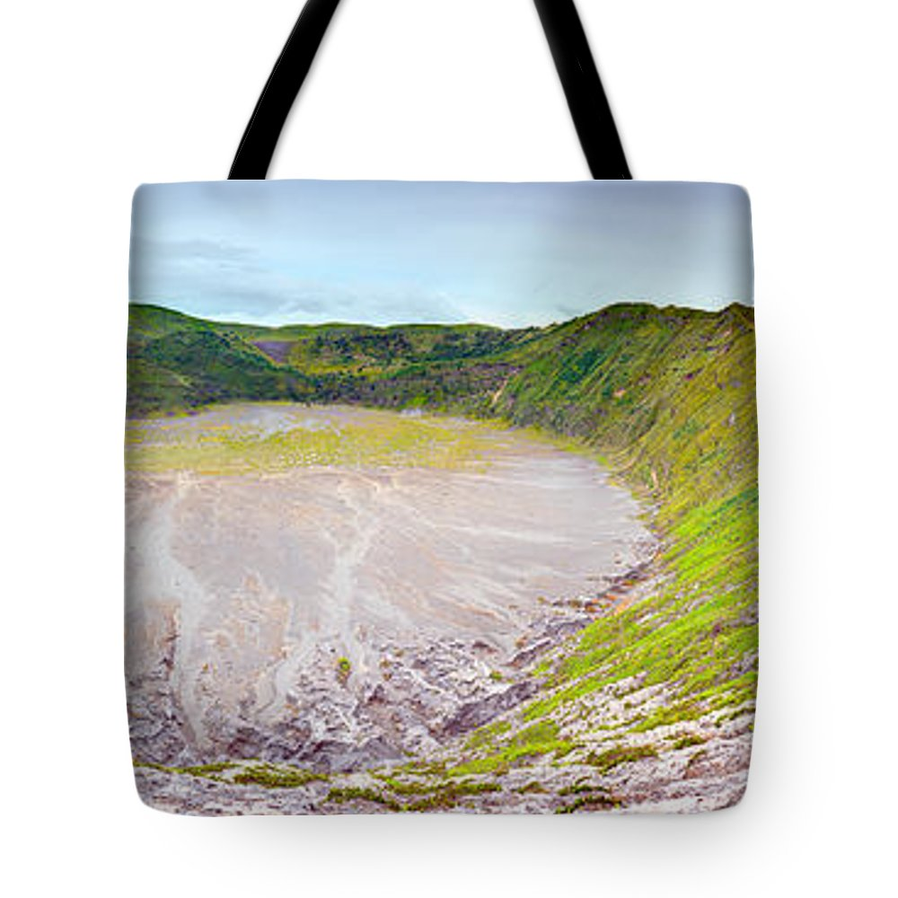 Crater Tote Bag featuring the photograph Volcano Crater by MotHaiBaPhoto Prints