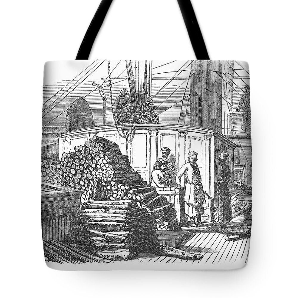 19th Century Tote Bag featuring the photograph Volga Steamboat by Granger