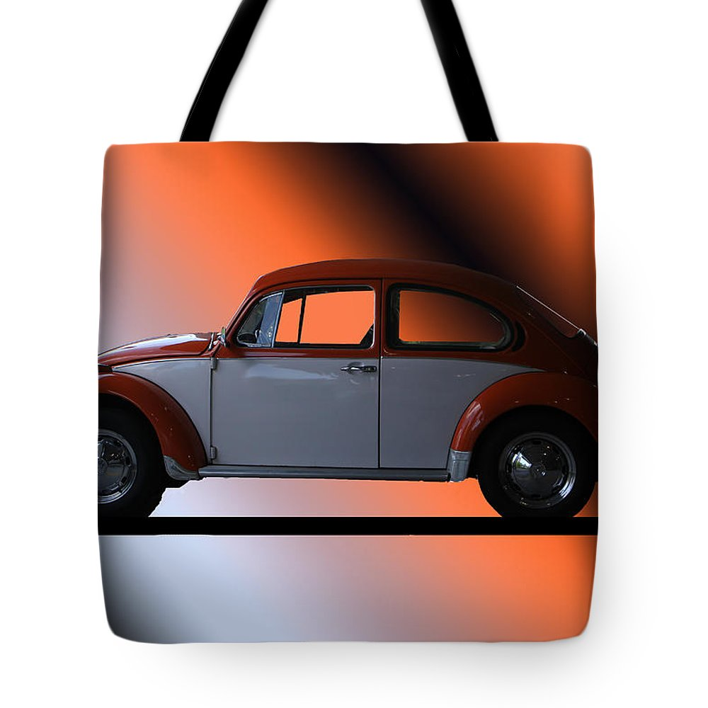 Car Tote Bag featuring the photograph Volkswagon Bug by Ericamaxine Price