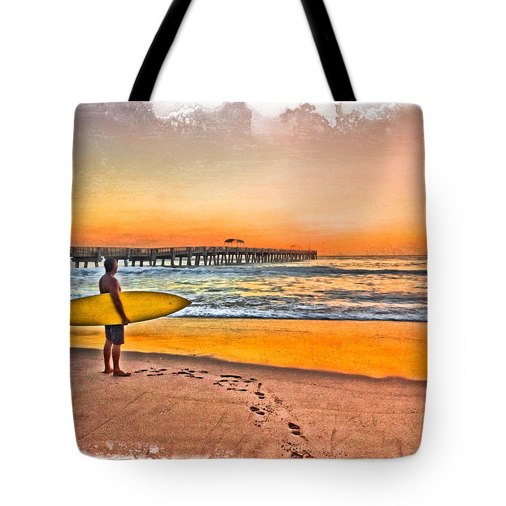 Clouds Tote Bag featuring the photograph Waiting For Waves by Debra and Dave Vanderlaan