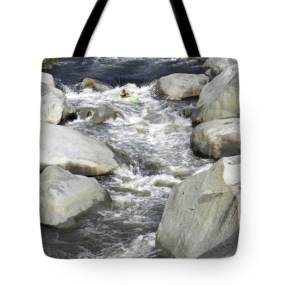 Rapids Tote Bag featuring the photograph Waiting by Frank Wilson