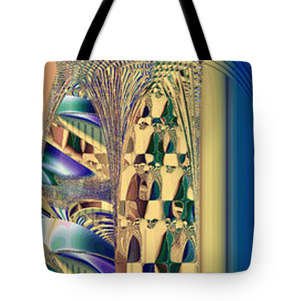 Fractal Tote Bag featuring the digital art Waiting In The Sand by Betsy Knapp