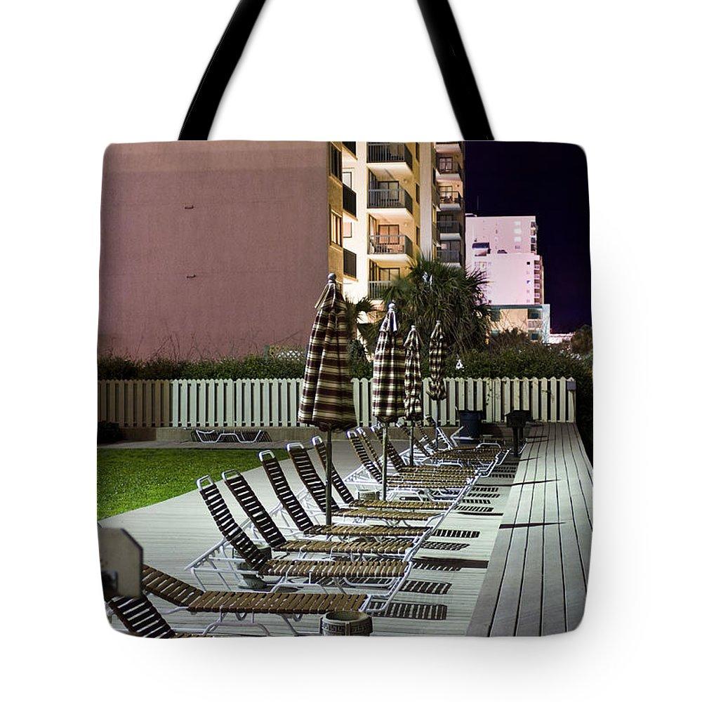 Beach Chairs Tote Bag featuring the photograph Waiting by Lisha Segur