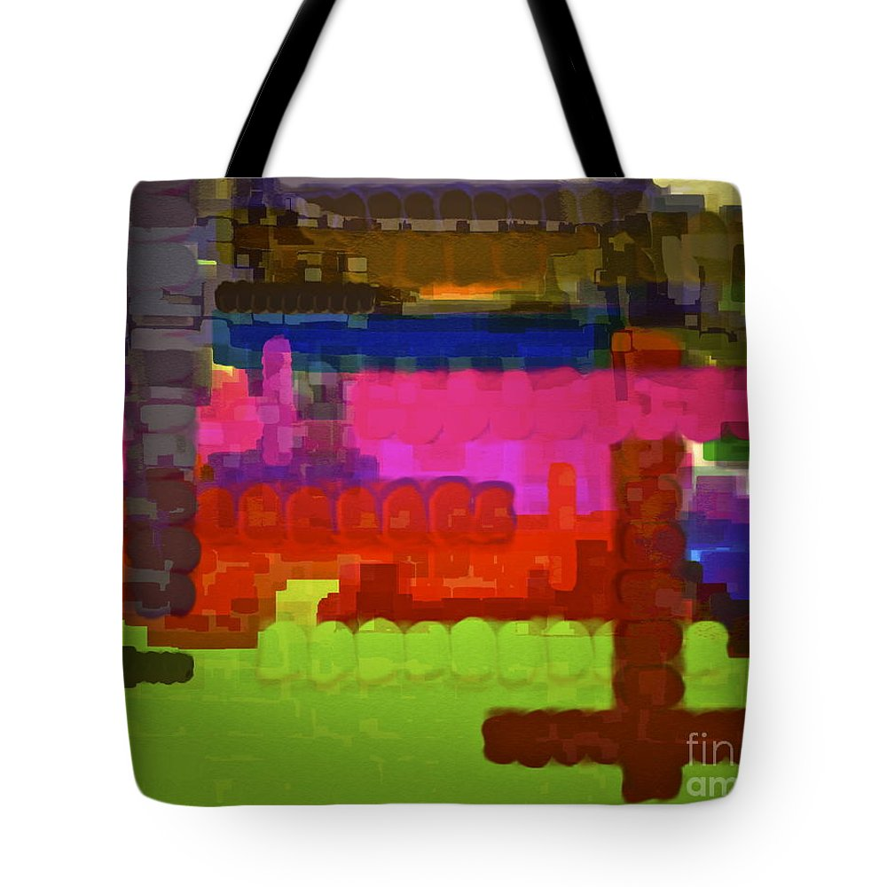 Colorful Abstract Tote Bag featuring the photograph Wake Up And Live by Gwyn Newcombe