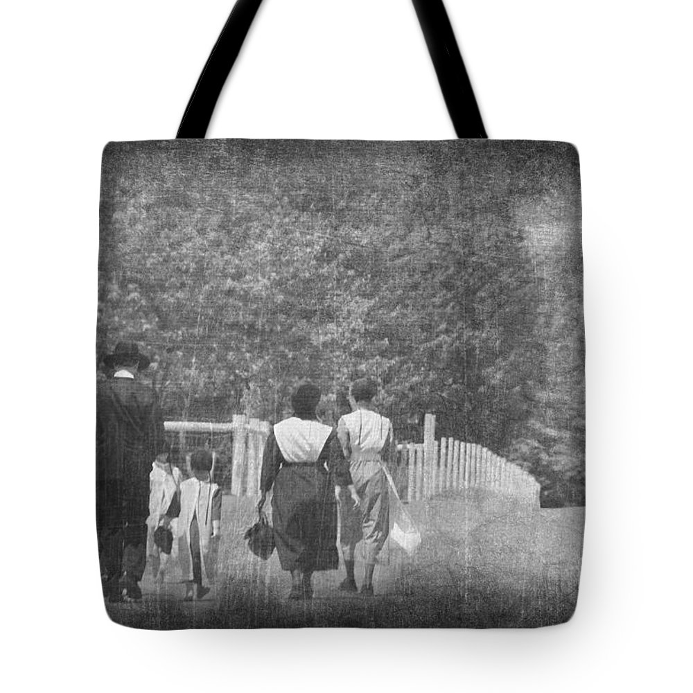 Tote Bag featuring the photograph Walking Home by David Arment