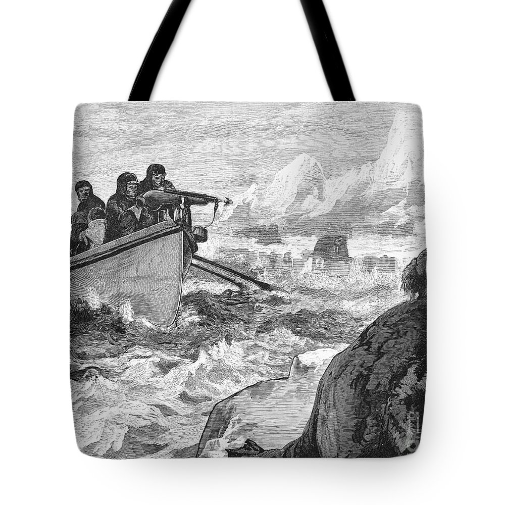 1875 Tote Bag featuring the photograph Walrus Hunt, 1875 by Granger