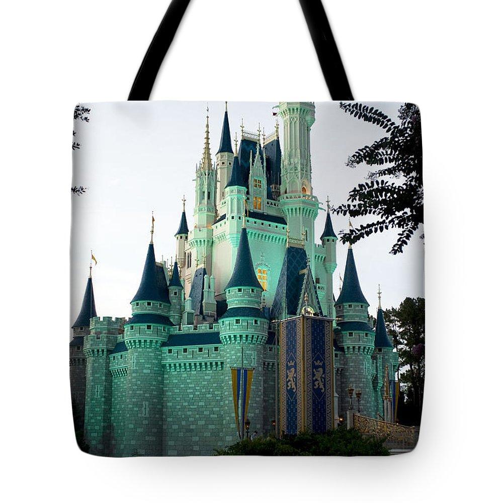 Walt Disney Tote Bag featuring the photograph Walt Disney Castle by Lisha Segur