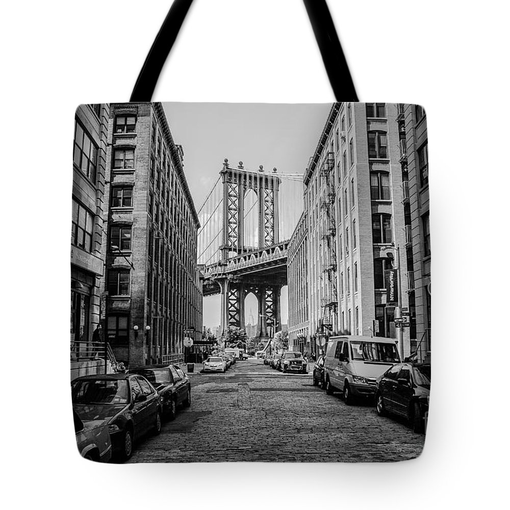 Washington St. Tote Bag featuring the photograph Washington Street Brooklyn by Ken Marsh