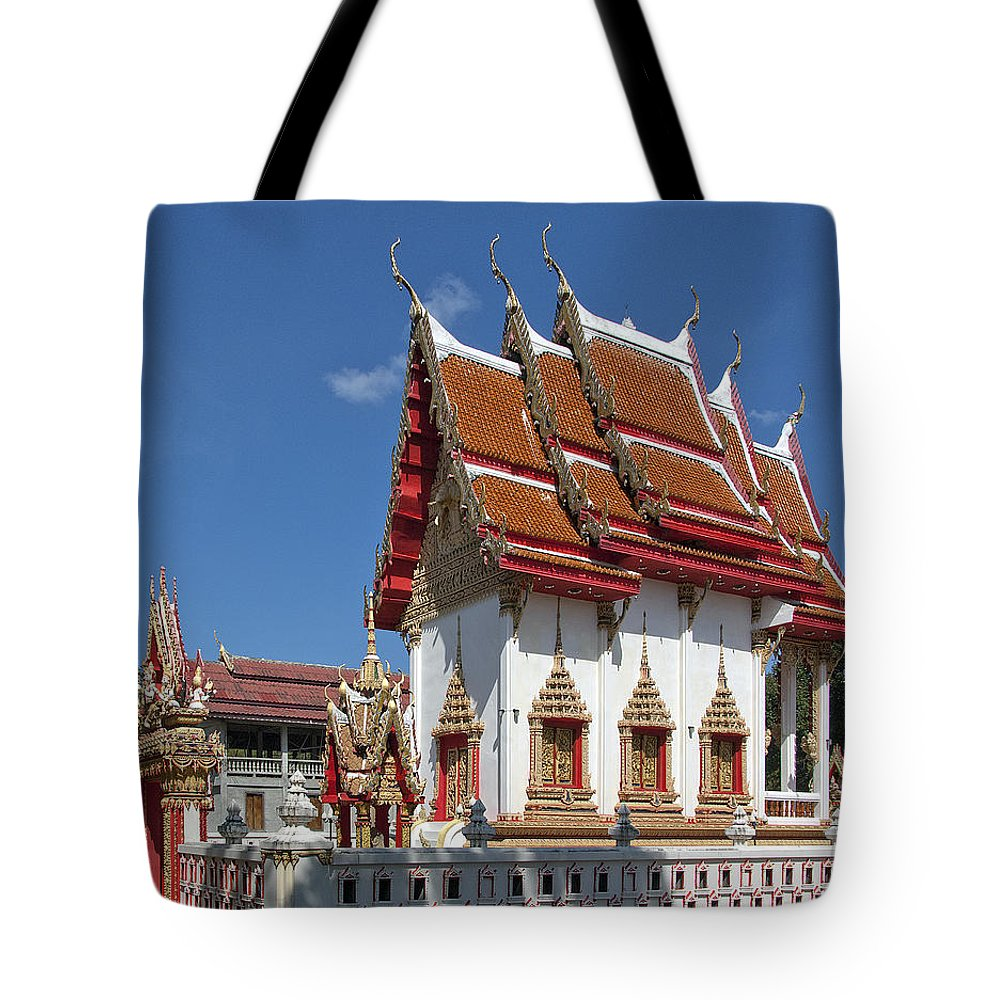 Scenic Tote Bag featuring the photograph Wat Huai Phai Ubosot And Compound Dthu096 by Gerry Gantt