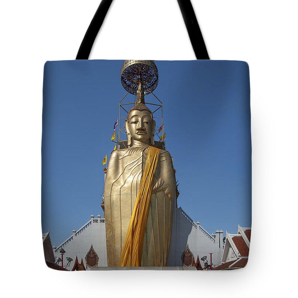 Bangkok Tote Bag featuring the photograph Wat Intarawiharn Phra Luang Phor Toh Standing Buddha Dthb294 by Gerry Gantt