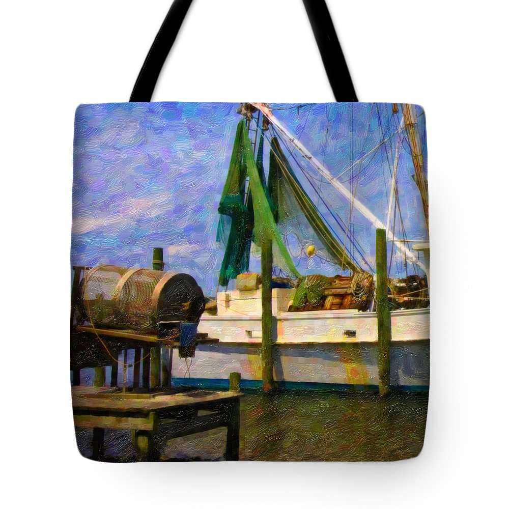 Ship Tote Bag featuring the digital art Watching Within A Frame by Betsy Knapp