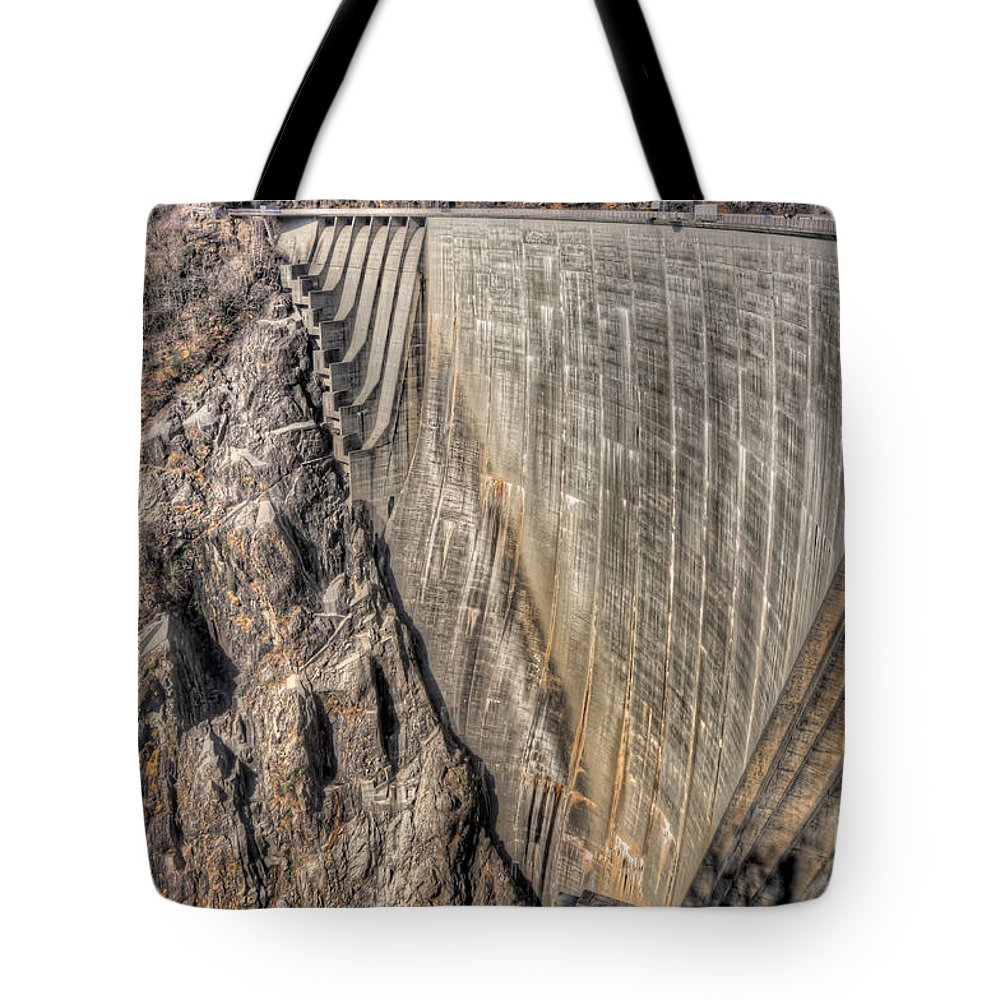 Water Dam Tote Bag featuring the photograph Water Dam by Mats Silvan