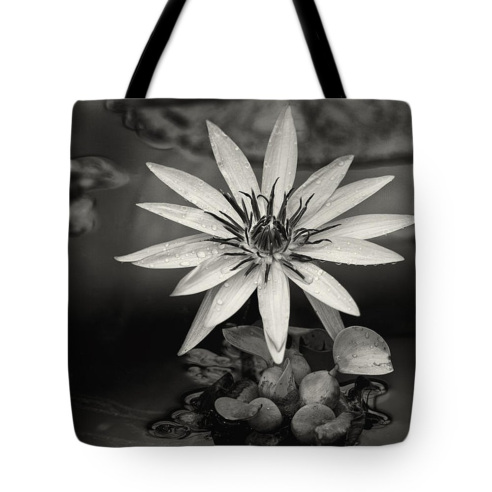 Water-lily Tote Bag featuring the digital art Water-lily by Diane Dugas