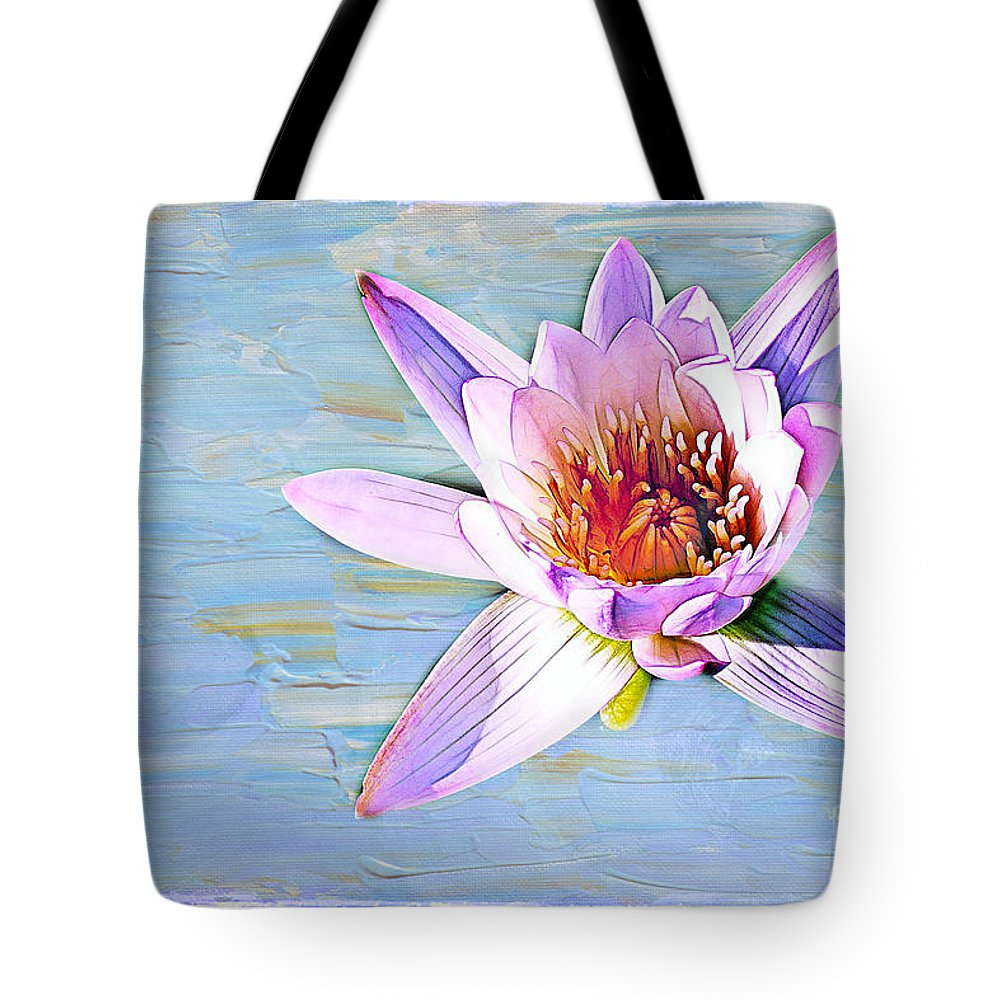 Water Tote Bag featuring the photograph Water Lily by Judi Bagwell