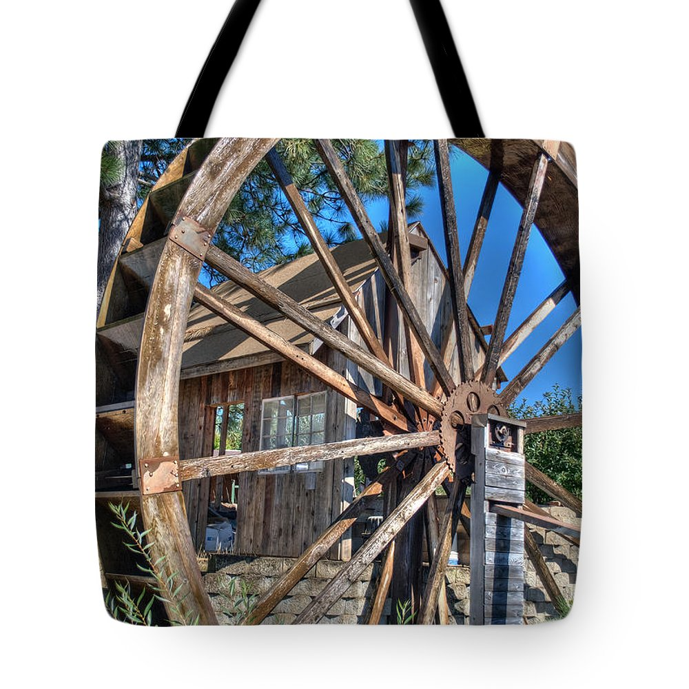 Apple Hill Tote Bag featuring the photograph Water Mill by Diego Re