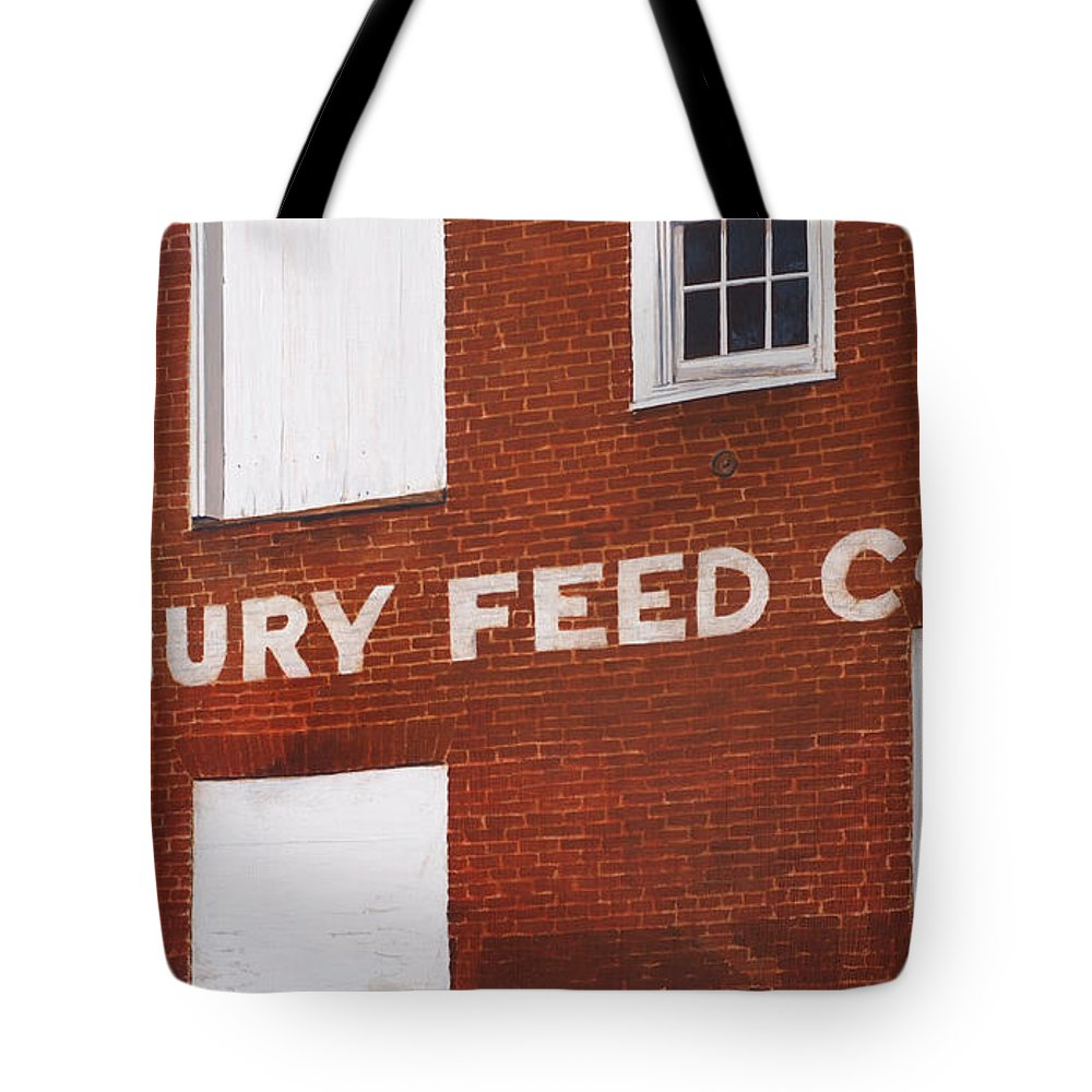 Architectural Tote Bag featuring the painting Waterbury Feed by Craig Morris