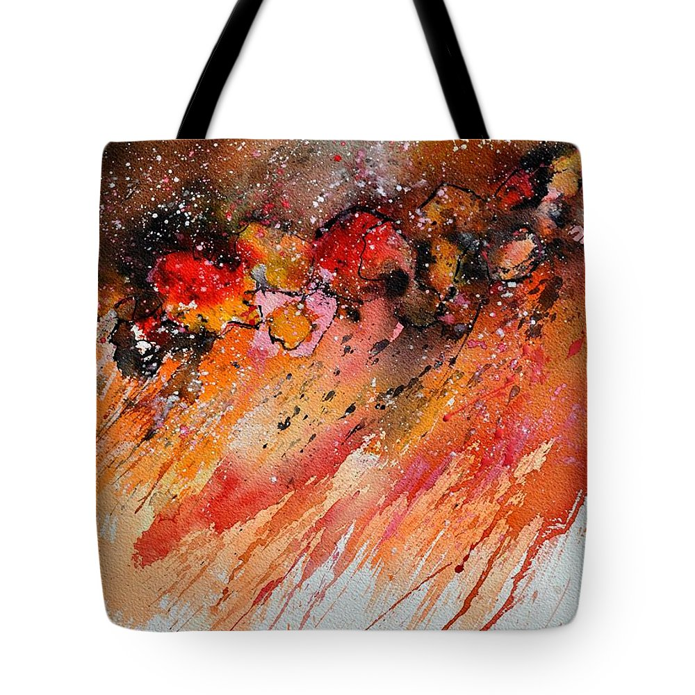 Abstract Tote Bag featuring the painting Watercolor 212022 by Pol Ledent