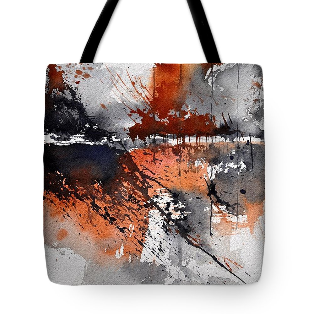 Abstract Tote Bag featuring the painting Watercolor 217031 by Pol Ledent