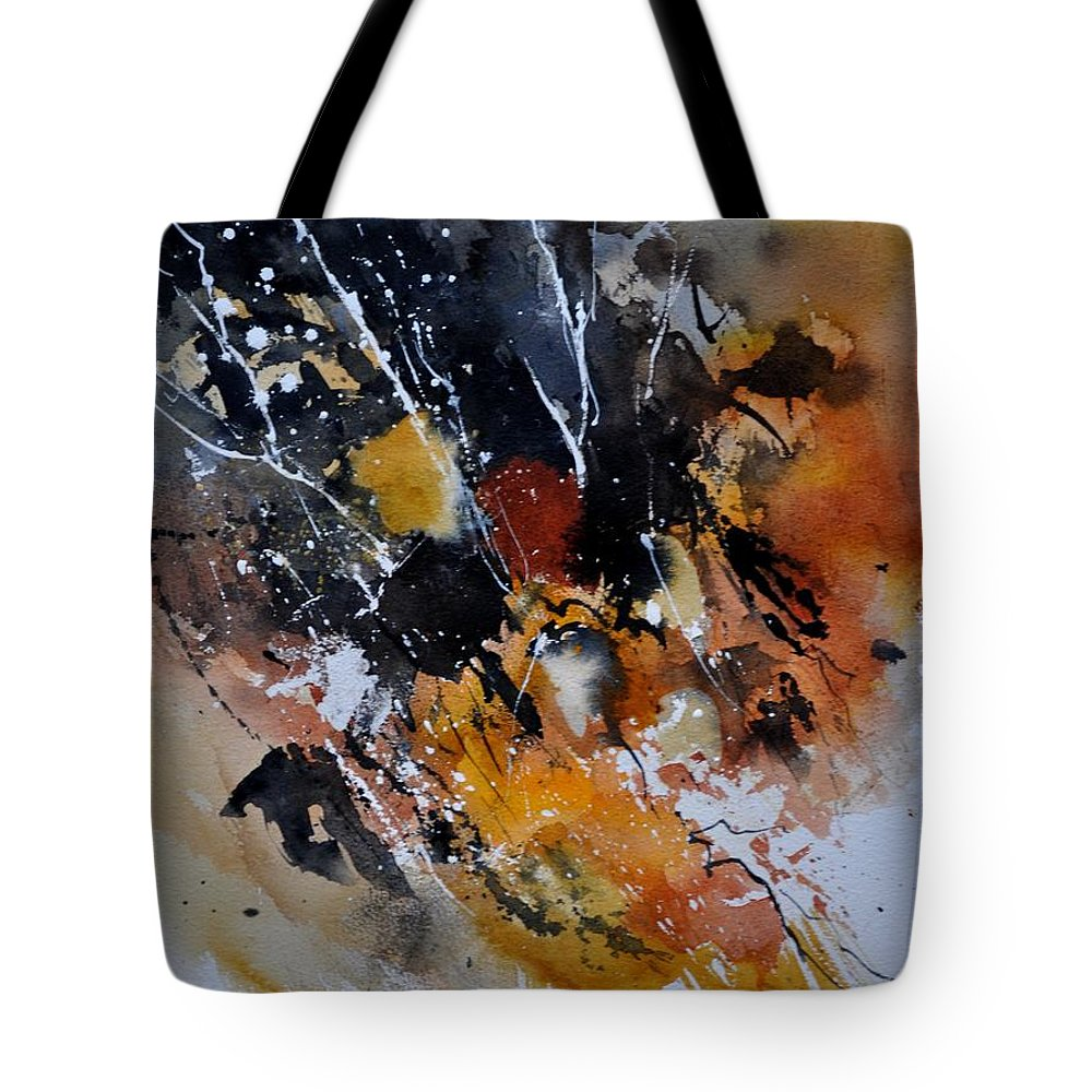 Abstract Tote Bag featuring the painting Watercolor 219002 by Pol Ledent