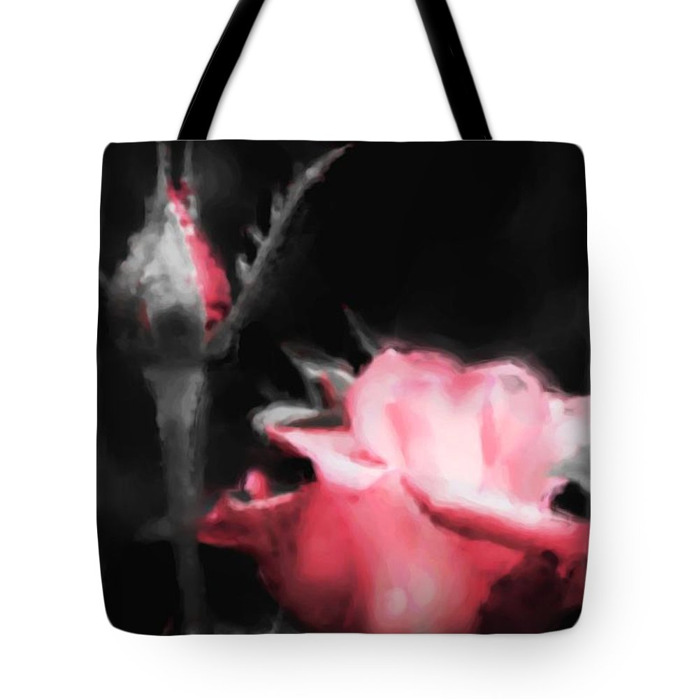 Watercolor Tote Bag featuring the painting Watercolor Rose by Michelle Joseph-Long