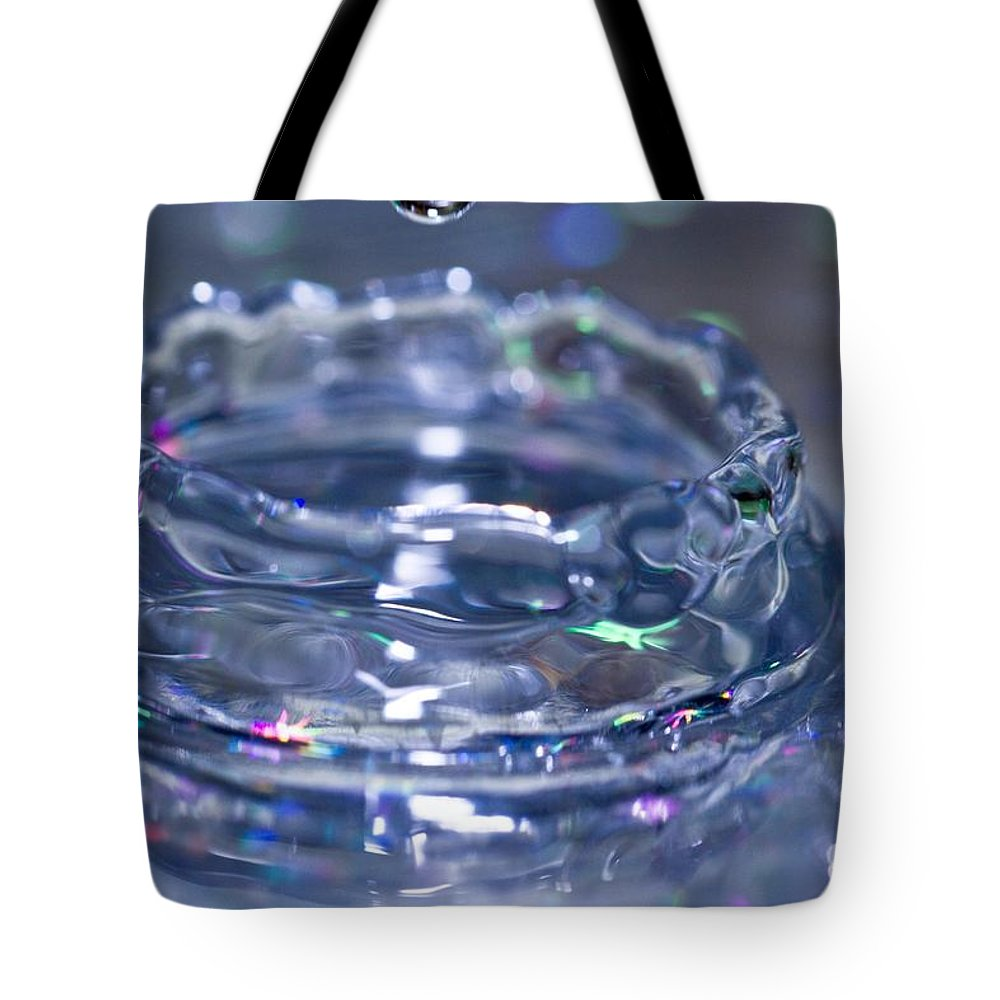 Water Tote Bag featuring the photograph Waterdrop15 by Danielle Silveira