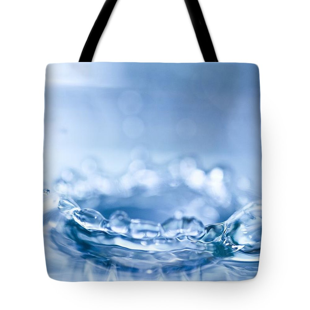 Waterdrop Tote Bag featuring the photograph Waterdrop3 by Danielle Silveira