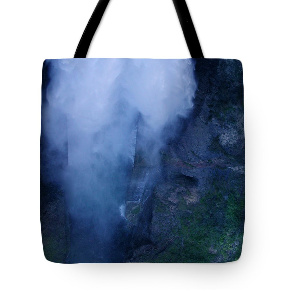Colette Tote Bag featuring the photograph Waterfall In Spain Near Granada by Colette V Hera Guggenheim