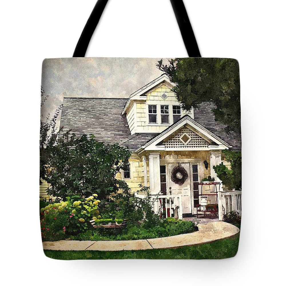 House Tote Bag featuring the digital art Watson Home by Kelley Gruver