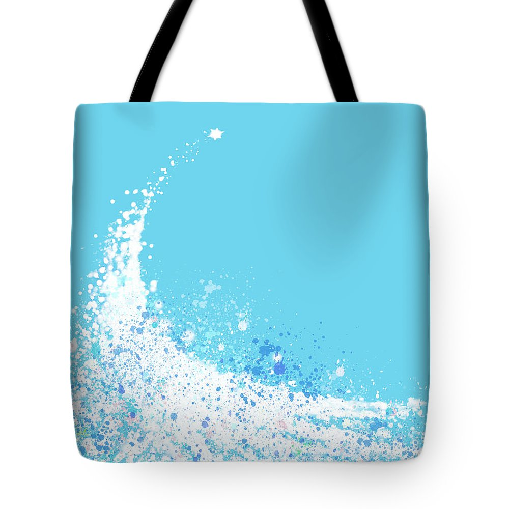 Art Tote Bag featuring the painting Wave by Setsiri Silapasuwanchai