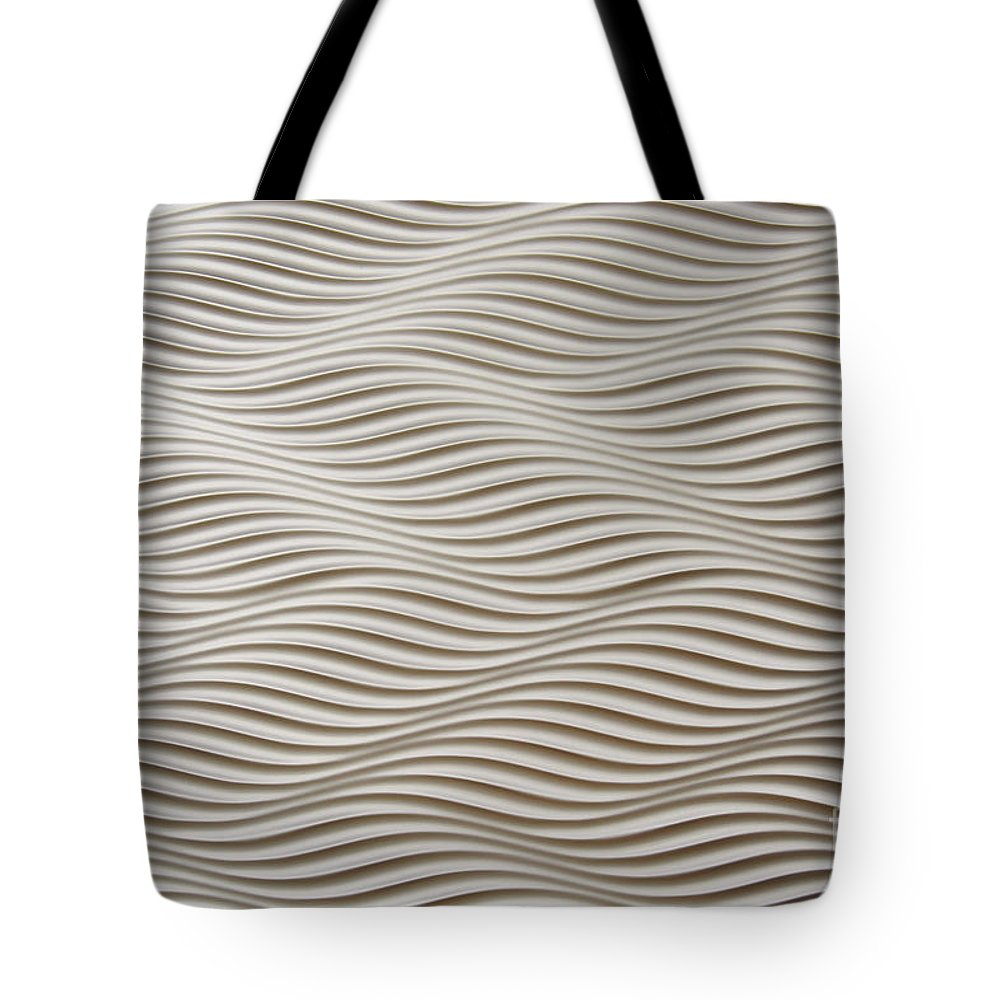 Abstract Tote Bag featuring the photograph Waves And Stripes Background by Roberto Giobbi