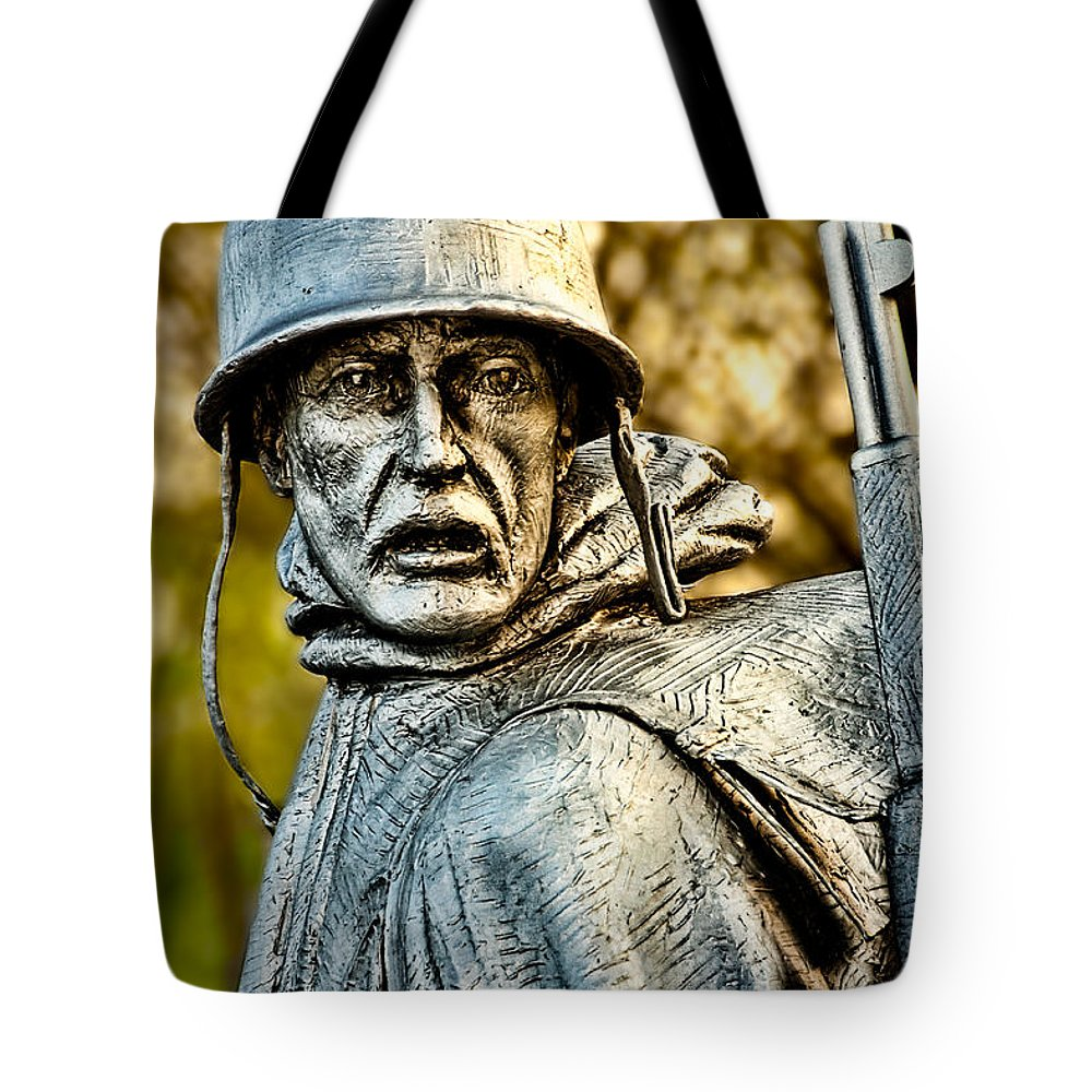 Soldier Tote Bag featuring the photograph Weary For Hope by Christopher Holmes